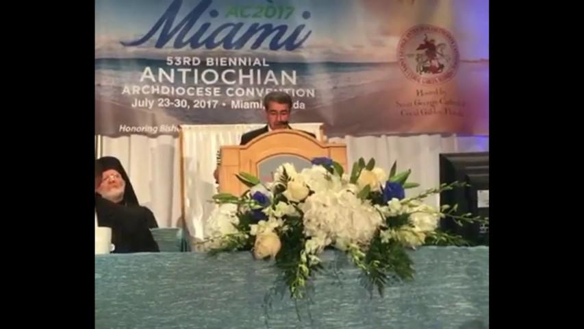 كلمة عضو اللجنة الرئاسية العليا لشؤون الكنائس موسى حديد في مؤتمر ميامي
