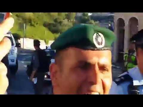 اعتداء الشرطة الإسرائيلية على فلسطينيين مسيحيين خلال انتظارهم لقداسة البابا في القدس